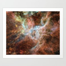 Watercolor Galaxy Art Print