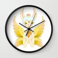 goddess Wall Clocks featuring Goddess by neulinu