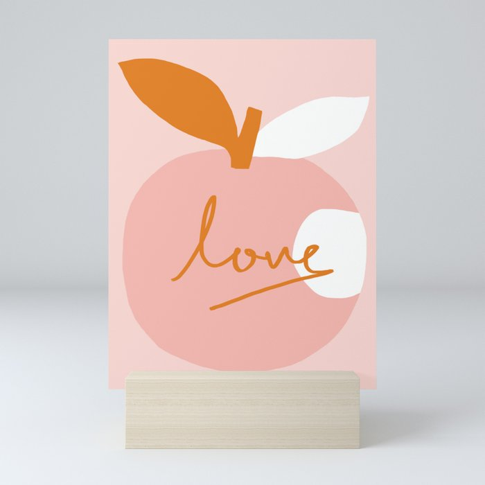 Abstraction_LOVE_BITE Mini Art Print