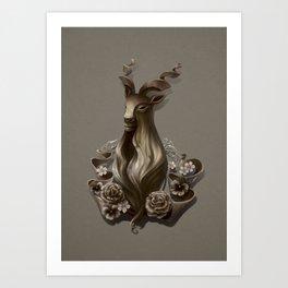 Wood Goat Art Print