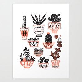 Mid-Century Modern Cacti Art Print