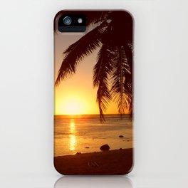 Cook Islands sunset iPhone Case