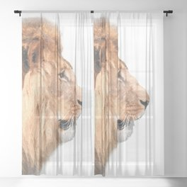 Lion Profile Sheer Curtain