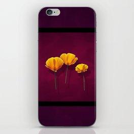 Three Poppies iPhone Skin