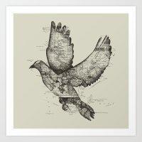 wanderlust Art Prints featuring Wanderlust by Tobe Fonseca