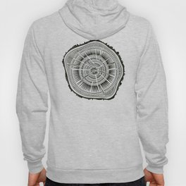 Paper Birch – Black Tree Rings Hoody