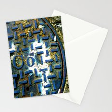 Deep Blue Metal Stationery Cards