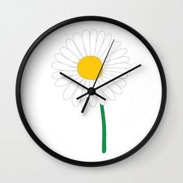 Daisy Illustration Wall Clock