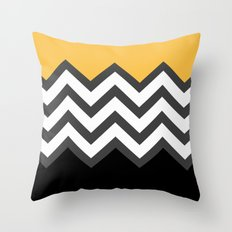 Color Blocked Chevron 6 Throw Pillow