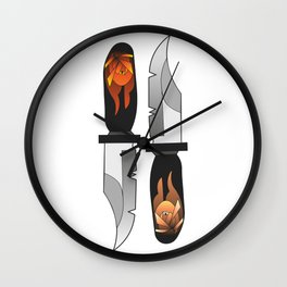 Knives Wall Clock