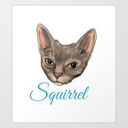 Squirrel Boi Art Print