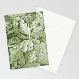 Celery Green Acanthus Plant Stationery Cards