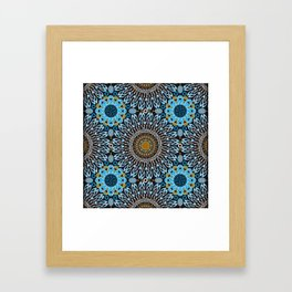 Calligraphic Boho (Blue) Framed Art Print
