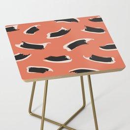 Animal Stripes in Terracotta Side Table