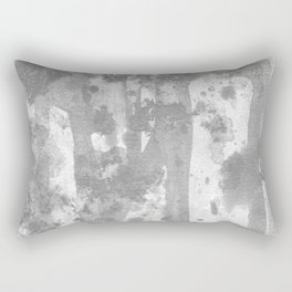 Ghost : gray and white abstract ink splatter and washes Rectangular Pillow