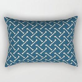 Its Going Tibia Okay - Dem Bones in Blue Rectangular Pillow