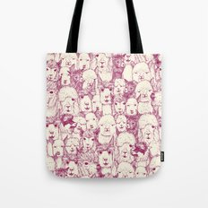 just alpacas cherry pearl Tote Bag