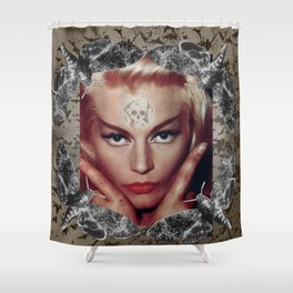 Spooky Witch - Femme Fatale - Anita Ekberg Shower Curtain