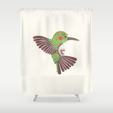 The Green Hummingbird Shower Curtain