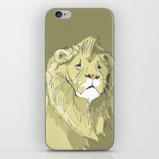 The Sad Lion iPhone & iPod Skin