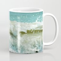wave Mugs featuring Wave by Bella Blue Photography