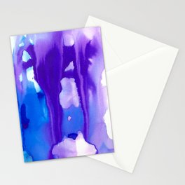 Melting Waterfall #1, Heavenly Purple Stationery Cards