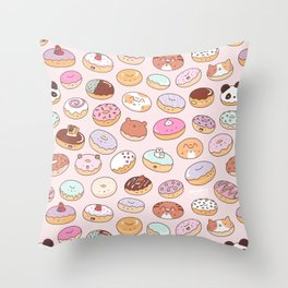 Mmm... Donuts! Throw Pillow