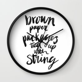 My Favourite Things - Brown Paper Packages Wall Clock