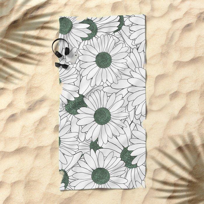 Daisy Mint Beach Towel