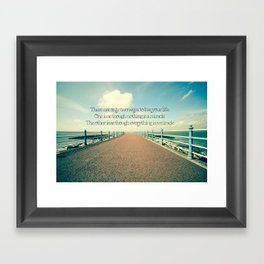 Everything is a Miracle. Framed Art Print