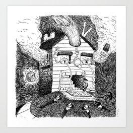 Daydream Mice Art Print