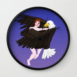 Making Love With His Eagle Wall Clock