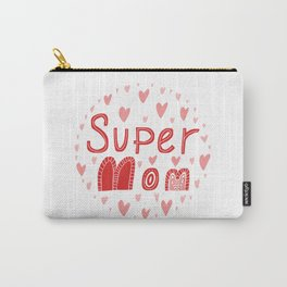 Super mom  typography phrase Carry-All Pouch
