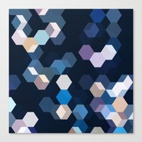 honeycomb Canvas Prints featuring HONEYCOMB by ED design for fun