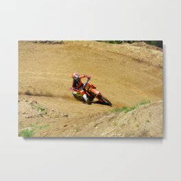 Turning Point Motocross Champion Race Metal Print