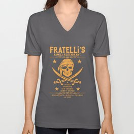 Fratelli's Family Restaurant Unisex V-Neck