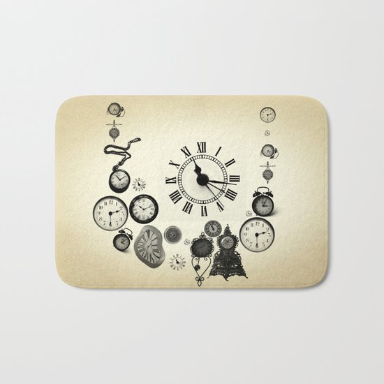 vintage clocks Bath Mat