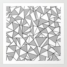 Abstraction Lines Black on White Art Print