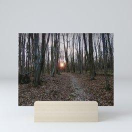 Turn Right at the Setting Winter Sun Mini Art Print
