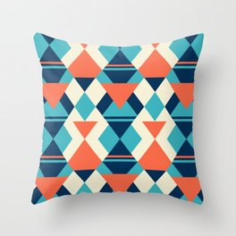 Play with rhombus Throw Pillow