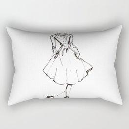Vintage Lady Rectangular Pillow