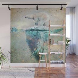 Polar Bear Adrift Wall Mural