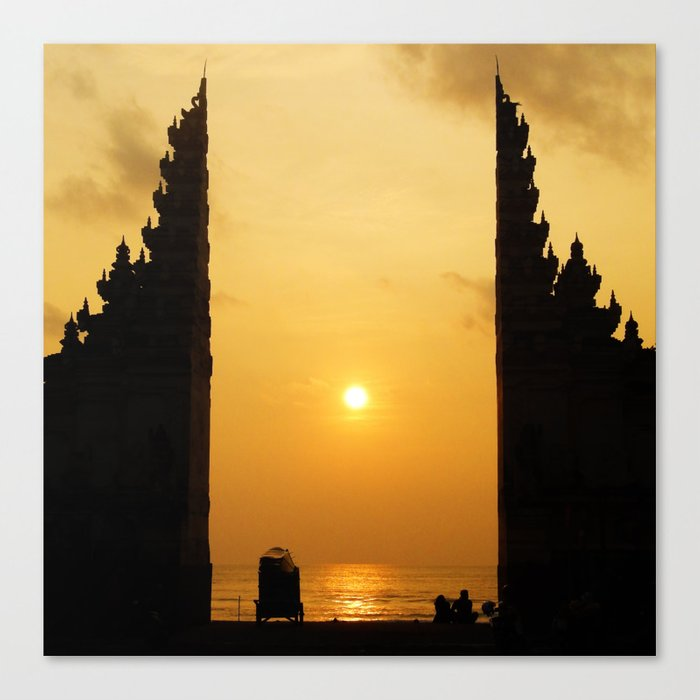Candi Bentar Sunset Canvas Print By Benbrommell Society6