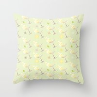 martini Throw Pillows featuring Martini by rusanovska