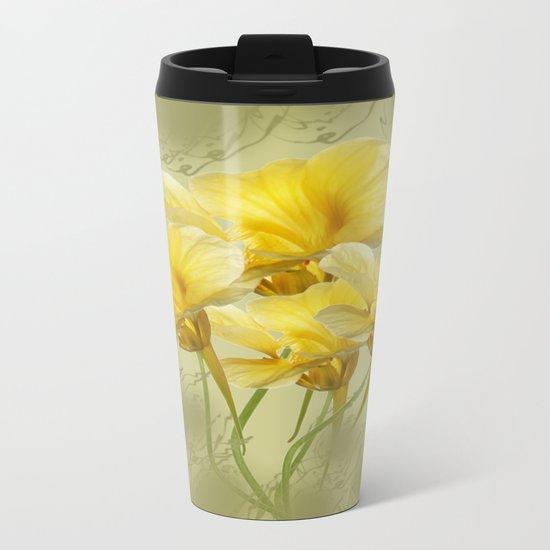 Summer Day Floral Metal Travel Mug
