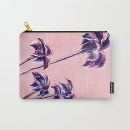 Maroon Leaves_Pastel and watercolor painting on colored paper Carry-All Pouch