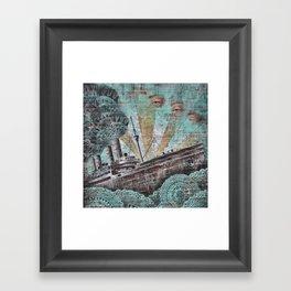 the boat wall Framed Art Print