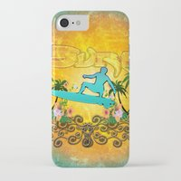 surfing iPhone & iPod Cases featuring Surfing by nicky2342