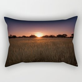 African Kalahari Sunset - Landscape Photography #Society6 Rectangular Pillow