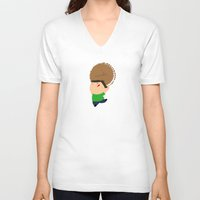 cookie V-neck T-shirts featuring cookie by Alapapaju